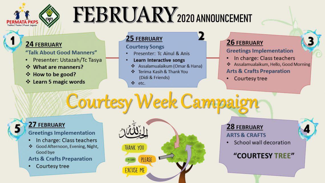 TTPKPS'20|FEBRUARY–ANNOUNCEMENT
