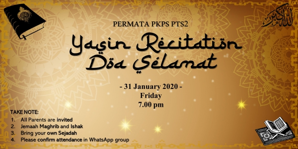 Yasin Recitation and Doa Selamat