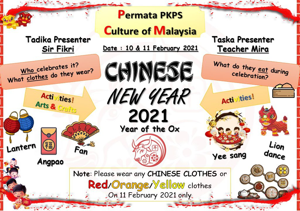 Permata PKPS'21|February- Culture of Malaysia Chinese New Year