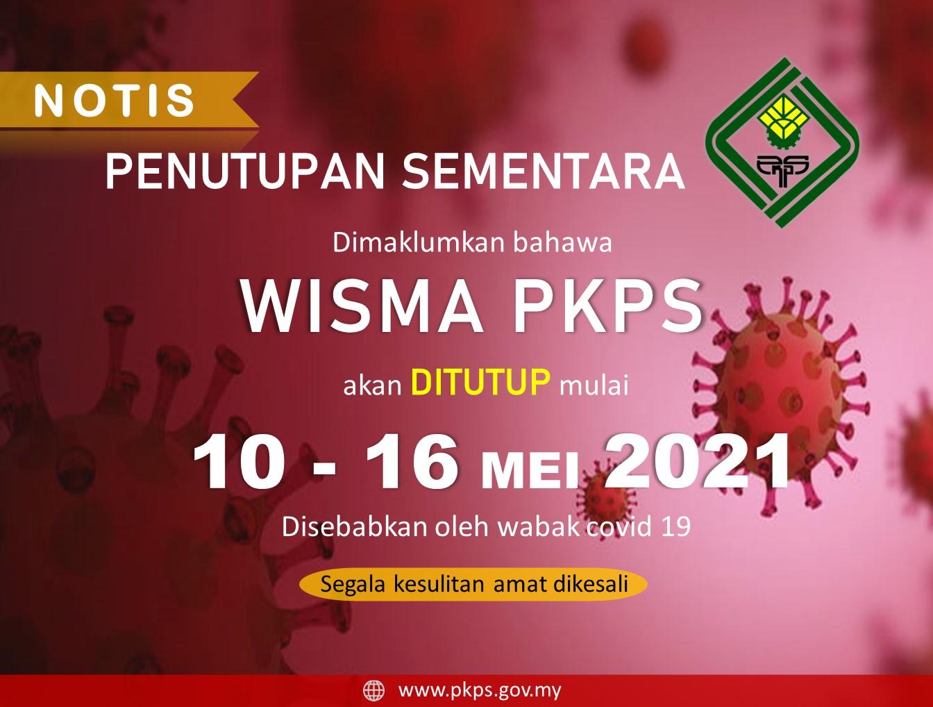 Notis penutupan sementara PKPS