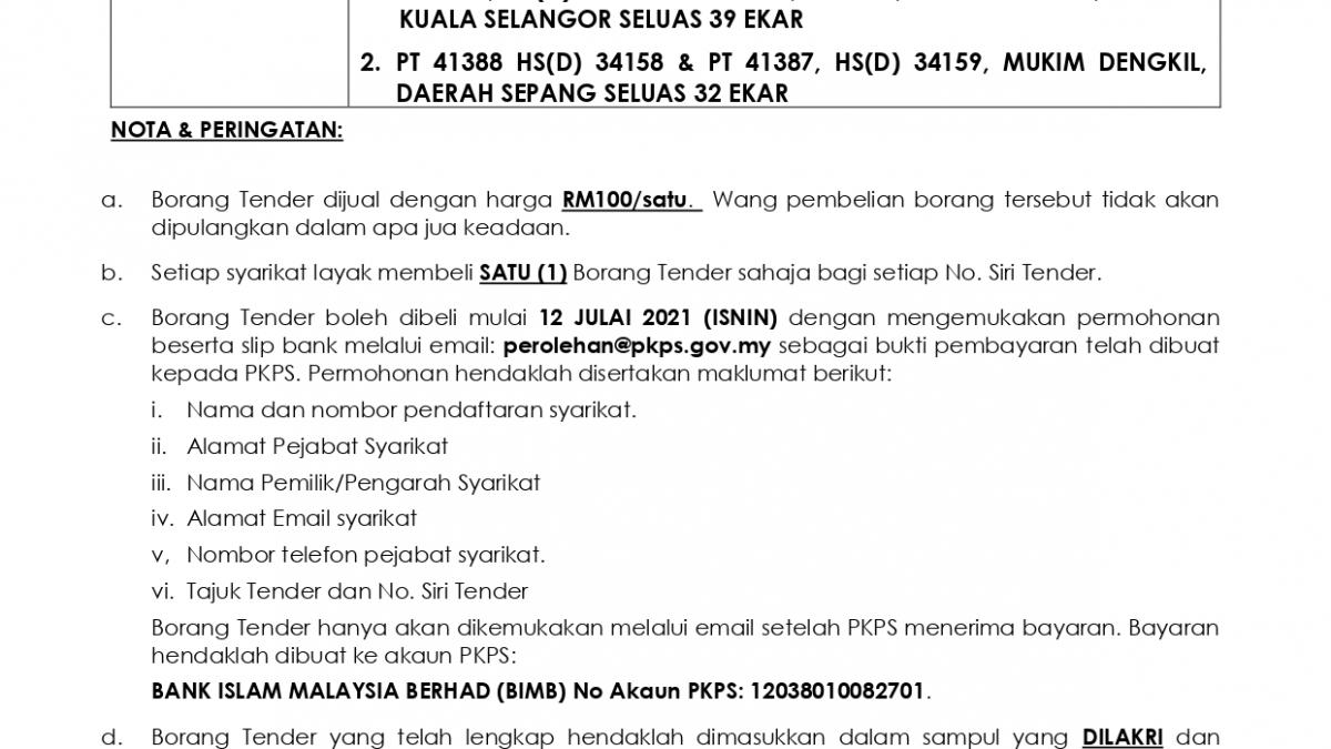 IKLAN TENDER - PMC Mkm Api2 dan Dengkil (1)